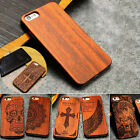 New Natural Wooden Wood Bamboo PC Case For Apple iPhone 7/plus/6s SE Cover Shell