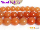 Wholesale Round Orange Natural Aventurine Stone Beads for Jewelry Making 6-10mm