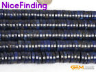 3x12mm Coin Heshi Blue Lapis Lazuil Spacer Beads For Jewelry Making Strand 15''