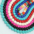 "Multi-color Carved Turqoise beads 16""  10mm 12mm 16mm"