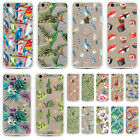 Multiple Floral Parrot Soft TPU Bumper Hard Back Case For Iphone 6 6s 6Plus 5S 5