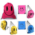3 Colors Pick Chic Smilling Drawstring Nylon Backpack Swimming Beach Travel Bags