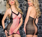 Sexy Sleepwear Lingerie Open Rave Babydoll Fishnet Mini Dress Pubbing Dancewear
