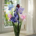Home Gorden Vase Decor Beautiful Artificial Flowers & Plants Iris/ fleur-de-lis
