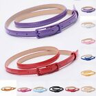 Women Waist Belt Waistband Colorful Leather Narrow Thin Skinny Fashion New