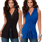 Fashion Women Summer Lace Vest Top Sleeveless Casual Tank Blouse Tops T-Shirt AS
