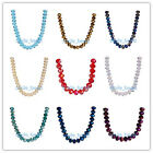 3x4mm 5040# Faceted Loose Rondelle Crystal Spacer Glass Beads Charms 71Colors