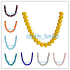 14mm Briolette Faceted Crystal Glass Bead 5040# Rondelle Loose Beads DIY Jewelry