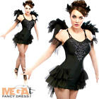 Black Swan Lake Ballerina Ladies Fancy Dress Halloween Womens Adults Costume New