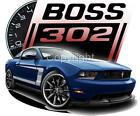 2012 Ford BOSS Mustang 302 Tshirts NWT automotive art
