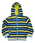Boys Raincoat Jacket Blue & Yellow Striped 2-6 Years Old