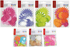 LOT FLEURS EN PAPIER SCRAPBOOKING SCRAP CARTE PAPIER MULTICOLORE COULEUR SISSI