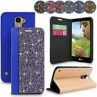 For LG K7 Tribute 5 New Luxury Rock Crystal Diamond Wallet Flip Stand Case Cover