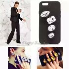 Soft Rubber Knuckle Diamond Jewel Ring Holder Case Cover for iPhone 6S Plus