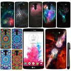 For LG G Vista VS880 G Pro 2 D631 Mandala Galaxy PATTERN HARD Case Cover + Pen