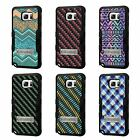 For Galaxy Note 4 TUFF Hybrid Stand Rubber Hard Case Black Black 7Colors