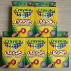 NEW - 8 CRAYOLA COLOUR CRAYONS - Childrens Art Craft Colouring Sets Packs