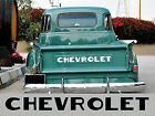 48-53 Step Side Chevy Pickup Truck Tailgate Letters fits 37 to 47 beds as well