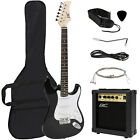 Musical Instruments Best Deals - Full Size Electric Guitar + 10 Watt Amp + Gig Bag Case + Guitar Strap Beginners