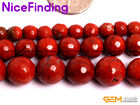 Natural Red Jasper Faceted Stone Beads Lot For Jewelry Making 15'' 6mm 8mm 10mm