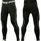 New Take Five Men's Compression Skin Tight Sports Pants 011 Black (S~XXL)