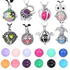 Women Angel Caller Pregnant Hollow Locket Pendant Bell Ball Necklace Jewelry