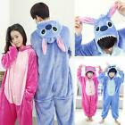 New Unisex Adult Kids Animal Pajamas Kigurumi Cosplay Onesie Sleepwear Stitch
