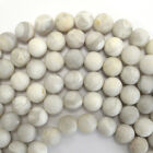 "Matte Cream Crazy Lace Agate Round Beads 15.5"" Strand 4mm 6mm 8mm 10mm 12mm"
