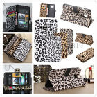 Fashion Leopard Flip Leather Wallet Card Case Cover For iPhone/Samsung Galaxy
