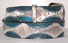 New Genuine Seasnake & Blue Snake Skin Belt sizes 24 to 48