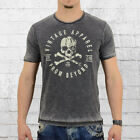 Smith and Jones Männer T-Shirt Oculuse vintage schwarz Herren Mens Tee grau