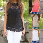 Nice Women Summer Lace Vest Top Sleeveless Casual Tank Blouse Tops T-Shirt