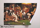 DOGS PLAYING POOL GIANT WALL ART POSTER A0 A1 A2 A3