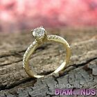 Diamond Engagement Ring 14K Solid Gold Natural 0.92 TCW (SI, D-F) 7.5 Enhanced