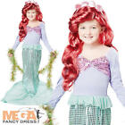 Little Mermaid Girls Fancy Dress Fairytale Book Character Kids Childs Costume