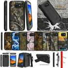 For Samsung Galaxy S7 Active Dual Armor Holster Belt Clip Deer Tree Camo Case