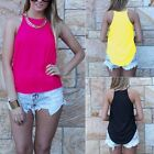 Hot Sexy Women's Lady Summer Vest Top Sleeveless Blouse Casual Tank B20E