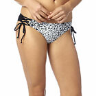 Fox Racing Speed Lace Up Side Tie Bikini Bottom Black/White