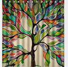 Polyester Fabric Color Big Tree Print Home Shower Bathroom Curtains Waterproof