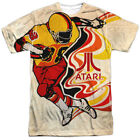 Atari Football Gamer Sublimation Licensed Adult T Shirt