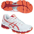 Asics Gel Cumulus 15 Ladies Cushioned Running Training Sports Shoes Trainers Red