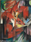 Franz Marc The Foxes  Giclee Canvas Print