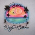 AIRBRUSHED BEACH SCENE T SHIRT PERSONALIZED YOUTH AND ADULT SIZES