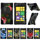 For Lumia Elvis| Nokia EOS| Hybrid Hard Bumper Stand Case Affectionate Flowers