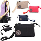 Hot Sale Women Casual Nylon Wristlet Bag Multilayer Zipper Purse Clutch Handbags