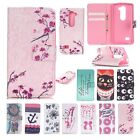 Flip Leather Wallet Stand Painted Cards Case Cover For LG Leon 4G LTE H340N C40