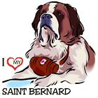 Saint Bernard Dog Ladies Tshirts & Nightshirt  9967 pet art