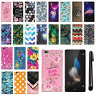 For Huawei P8 Lite PATTERN HARD Back Case Phone Cover + Pen
