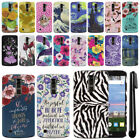 For LG K10 Premier LTE L62VL L61AL K428 PATTERN HARD Back Case Phone Cover + Pen