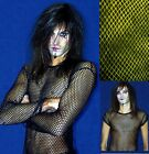 MENS FISHNET MESH TOP SHIRT DANCE GOTH PUNK EMO LONG SHORT SLEEVED ALTERNATIVE